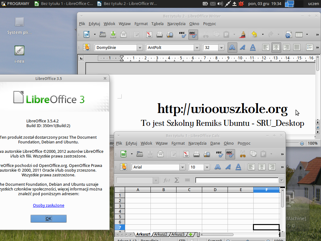 Aplikacje użytkowe – pakiet biurowy