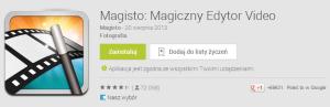 Aplikacja Magistro, która umożliwia tworzenie filmików ze zdjeć i filmów znajdujących się w galerii