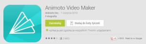 Aplikacja Animoto do tworzenia filmów ze zdjęć