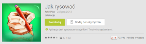 Aplikacja Jak rysować pokazuje krok po kroku jak należy narysować np. żabkę