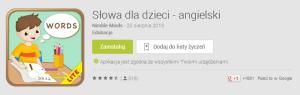 Aplikacja Słówka dla dzieci pomaga w nauce języka angielskiego