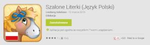 Aplikacja Szalone Literki pomaga w nauce literek