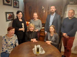 Oktawia Gorzeńska z eduzmieniaczami z Bakałarzewa